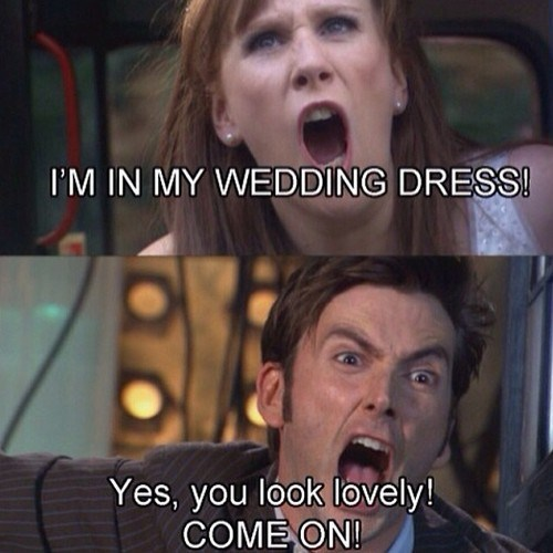 10th doctor,donna noble,wedding
