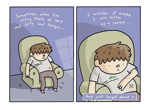 lazy,sad but true,zombie,web comics