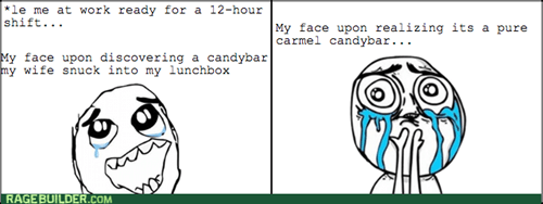 candy bar,lunch,surprise,work
