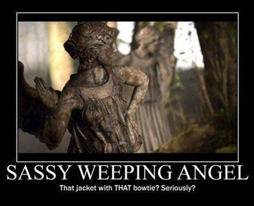 11th Doctor,bowtie,weeping angels