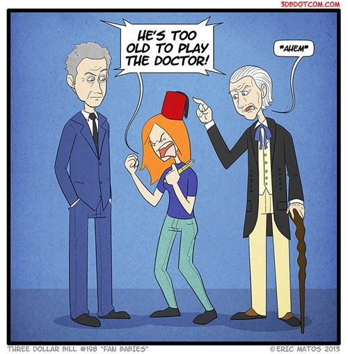 classic who 12th Doctor fangirls web comics - 8083789824