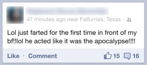 apocalypse boyfriend facebook farts funny - 8083843328