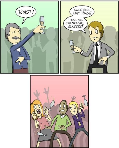 champagne puns toast web comics - 8083926272