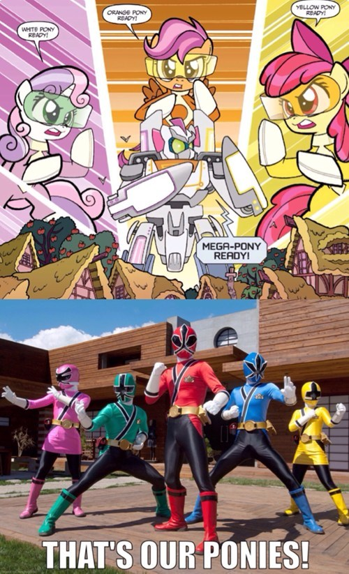 power rangers,comics,cutie mark crusaders