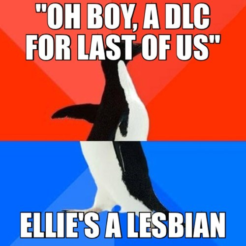 ellie socially awkward awesome penguin the last of us - 8084568832