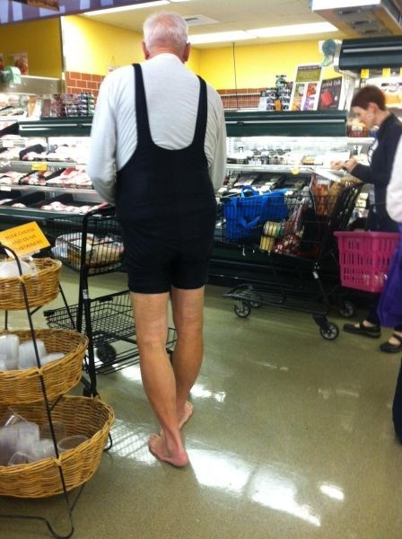 poorly dressed shopping barefoot grocery store
