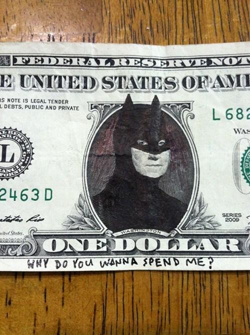 presidents george washington dollars batman money - 8085199360