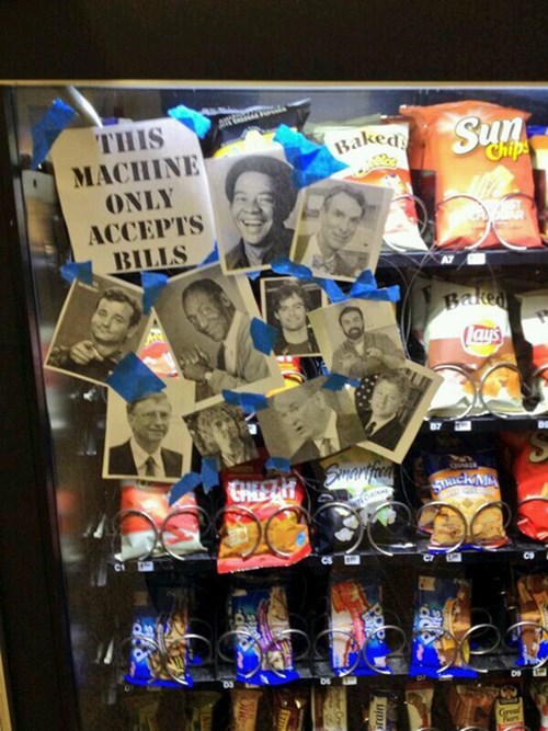 vending machines bill nye bill murray bill cosby bills Bill Gates bill clinton - 8085205248