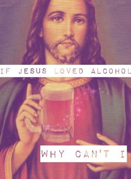 jesus booze funny - 8085395456