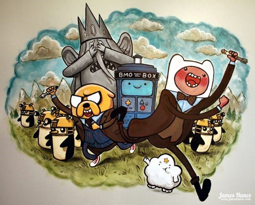 crossover,Fan Art,doctor who,adventure time