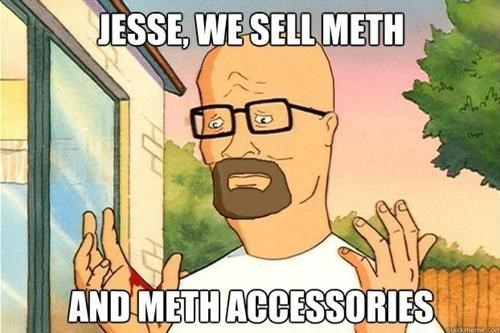 breaking bad,hank hill,walter white,King of the hill