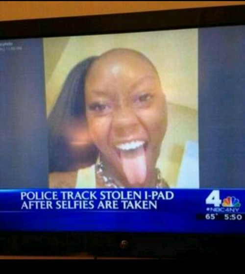Facebook selfy gone wrong
