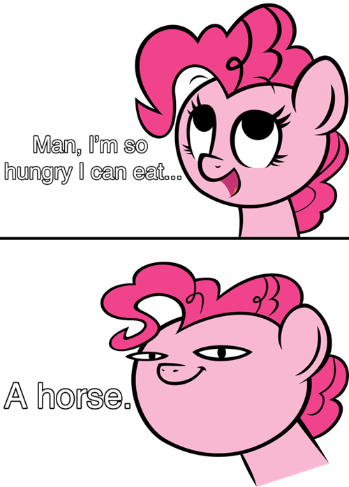 eat a horse cannibal pinkie pie - 8085546496