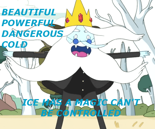 crossover cartoons frozen ice king adventure time - 8085581824