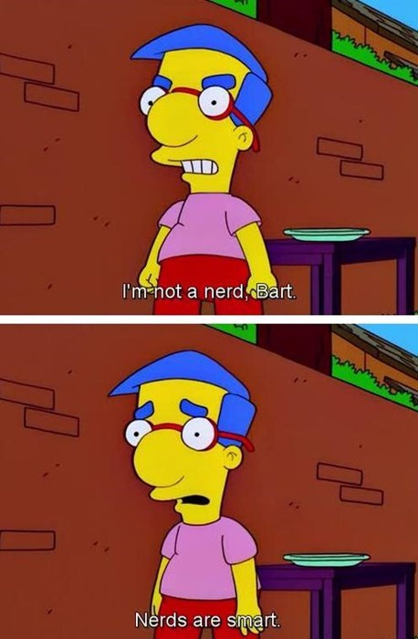 nerds,milhouse,the simpsons