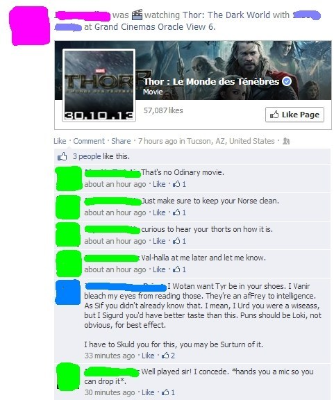 Thor movies puns failbook g rated
