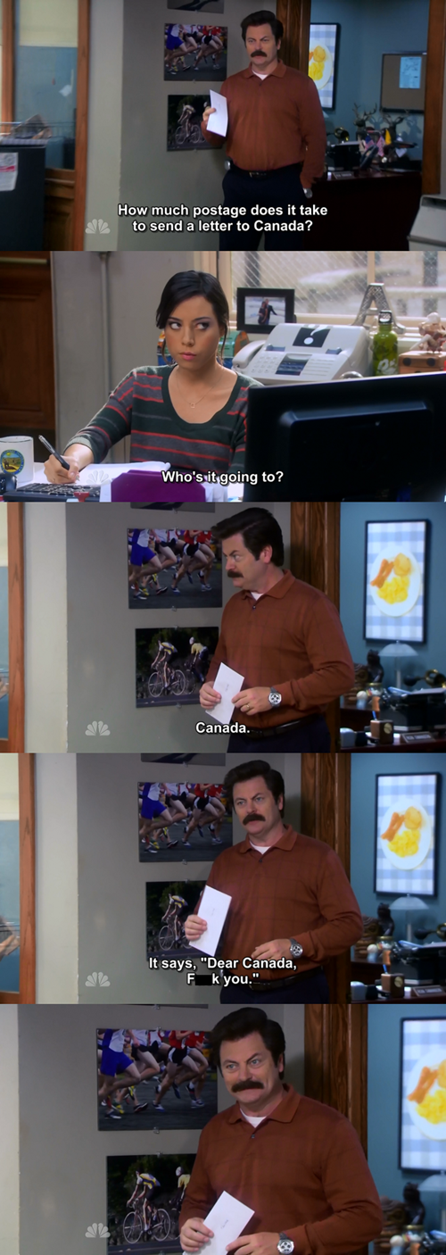 Canada parks and recreation ron swanson - 8086502912