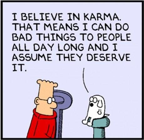 dilbert dogbert karma web comics - 8086532096