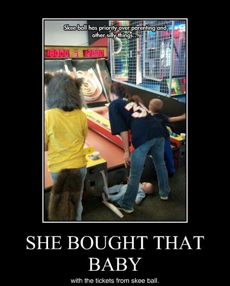 baby skee ball funny - 8086576384