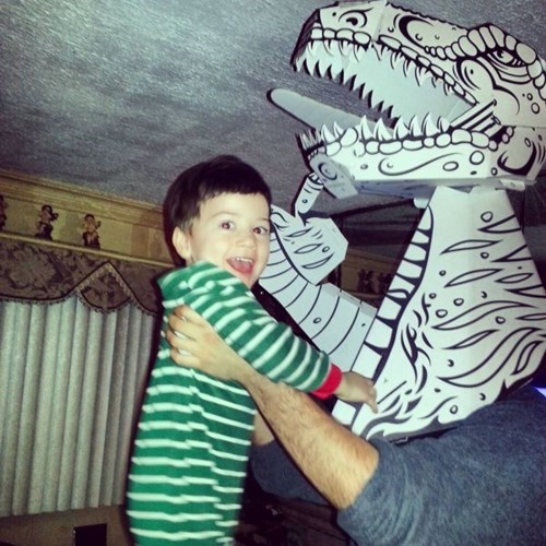 kids parenting papercraft dinosaurs - 8086624768