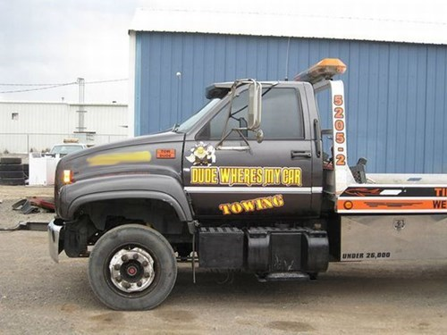 monday thru friday tow truck work dude-wheres-my-car towing g rated - 8086642944