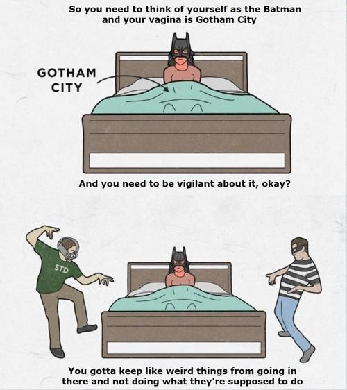 safe sex STD batman - 8086695680