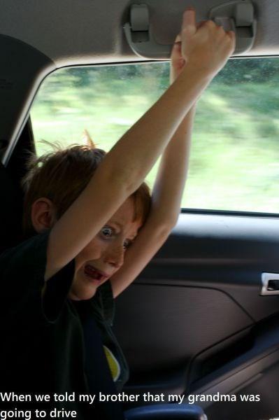 kids grandma driving parenting - 8086700032