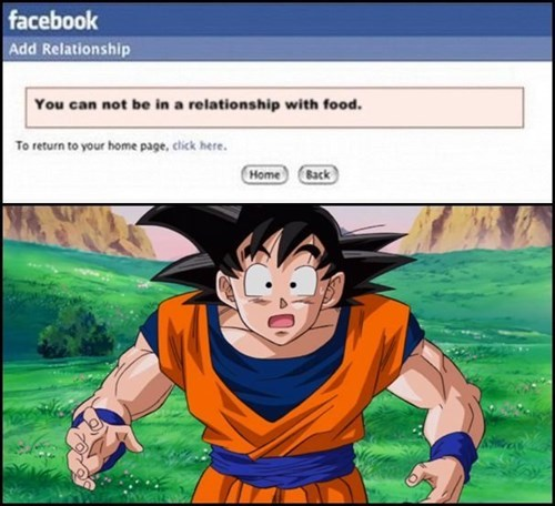 Dragon Ball Z,relationships,food,goku,funny,g rated,dating