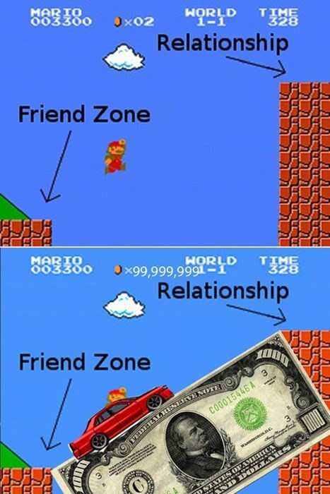 friendzone,happy,Super Mario bros,funny,money