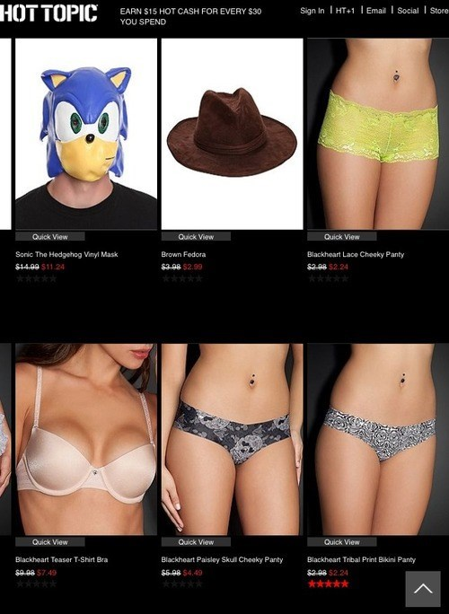 wtf hot topic sonic - 8086854912