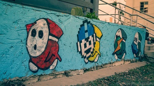Street Art,nerdgasm,shy guy,hacked irl,video games