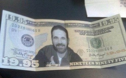 Billy Mays,dollar bills,money