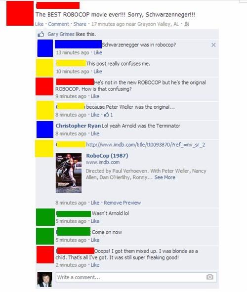 movies Arnold Schwarzenegger facebook robocop - 8087414528