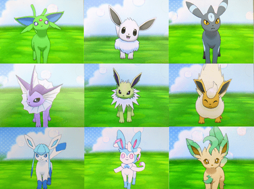 Pokémon,eeveelutions,shinies