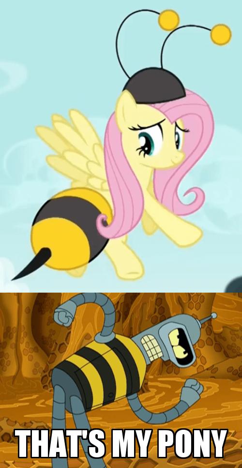 bender bees fluttershy - 8088071424