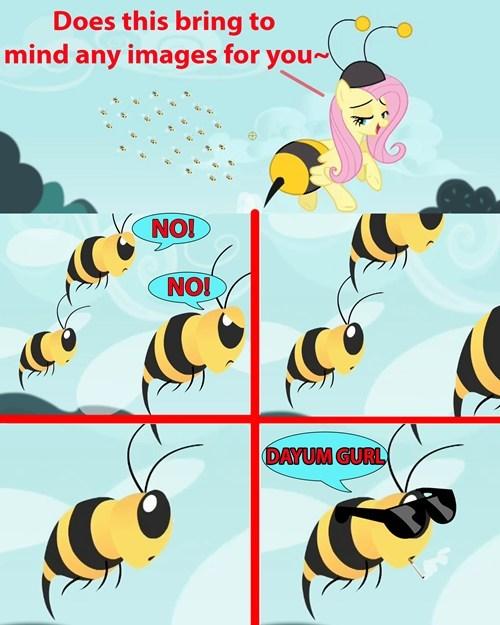 flutterbat,bees,fluttershy