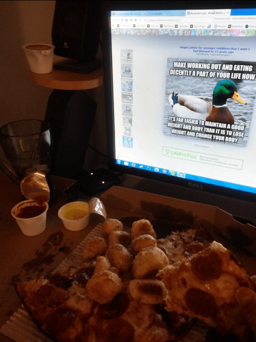 diet,Actual Advice Mallard,pizza,exercise,food