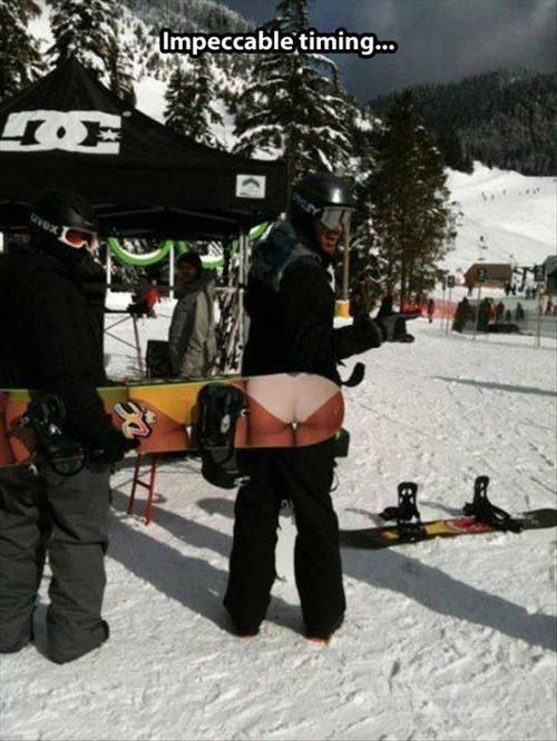 photobomb snowboarding good timing - 8088609280