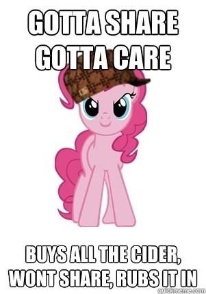 Scumbag Pinkie Pie