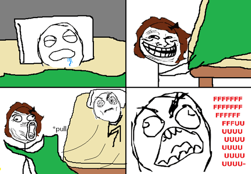 rage,trollface,morning,lol,waking up