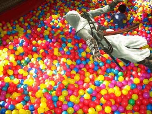 ball pit,assassins creed