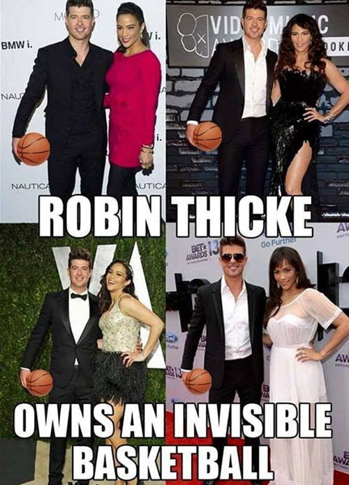 cute robin thicke basketball funny - 8089722880