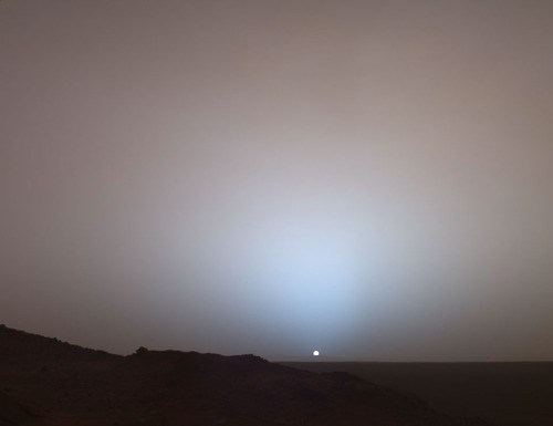 awesome Mars space sunset
