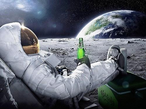 beer moon astronaut funny - 8089903616