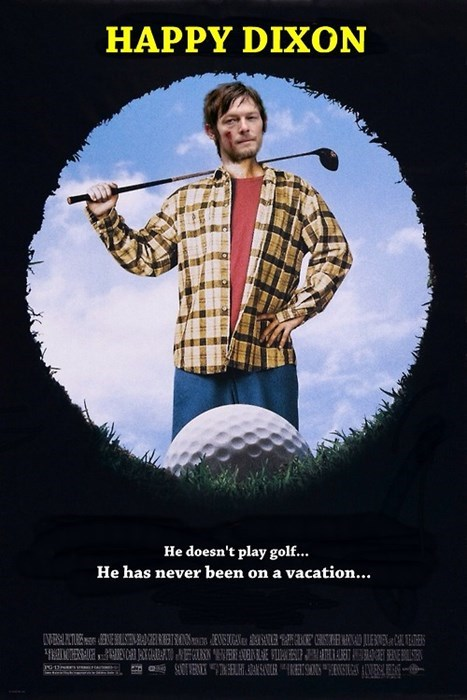 daryl dixon,golf,happy gilmore