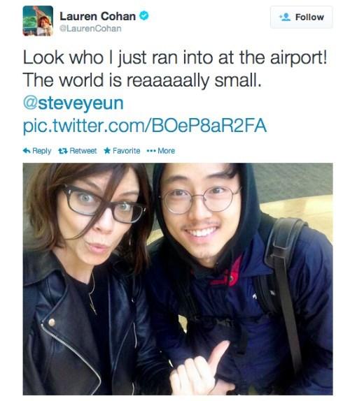 Steven Yeun Lauren Cohan celebrity twitter - 8090025472