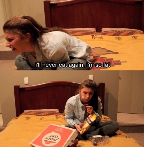 girl logic,food,eating