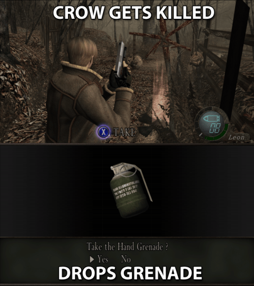 resident evil 4,video game logic