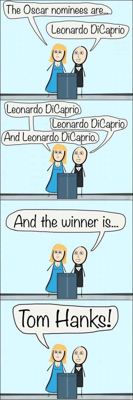 leonardo dicaprio,tom hanks,web comics,oscars