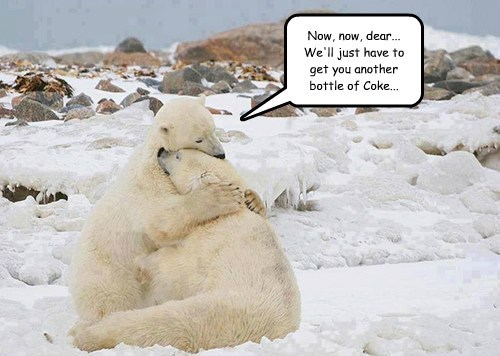 Sad,polar bears,coke,funny